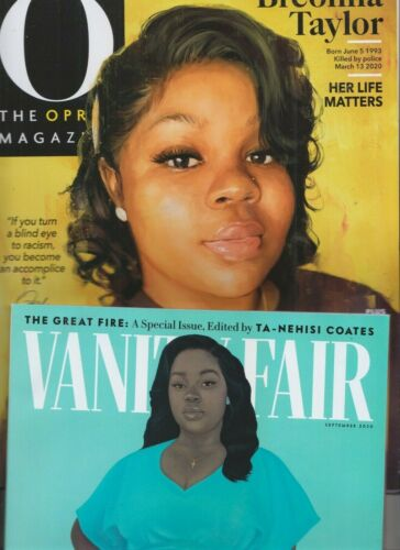 BREONNA TAYLOR THE OPRAH MAGAZINE & VANITY FAIR SEPT 2020 NO LABEL SAY HER NAME!
