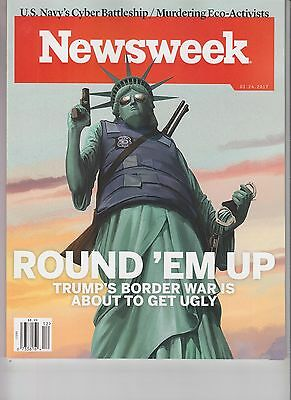 DONALD TRUMP NEWSWEEK MAGAZINE MARCH 24 NO LABEL ROUND 'EM UP IMMIGRATION WAR