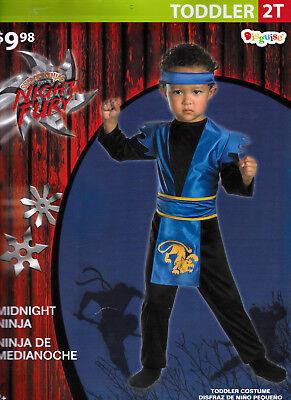 Midnight Ninja Night Fury Halloween Costume Toddler 2T - New (Furies Halloween Costume)