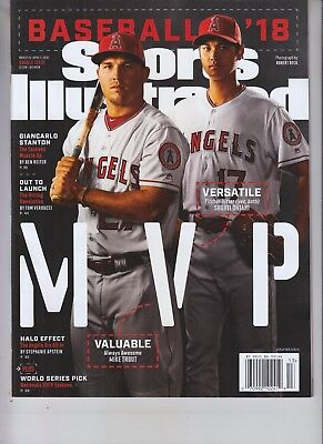 MIKE TROUT SHOHEI OHTANI SPORTS ILLUSTRATED MAGAZINE MAR 26 2018 PREVIEW
