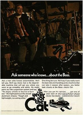 1971 Arctic Cat BOSS Snowmobile Ask Someone Who Knows Vintage Ad