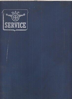 DAF 44 SALOON ORIGINAL 1966 FACTORY WORKSHOP MANUAL ( GB NL D F E I TEXT )