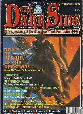 THE DARK SIDE MAGAZINE = NOVEMBE 1990 = DARKMAN SAM RAIMI LINDA BLAIR EXORCIST