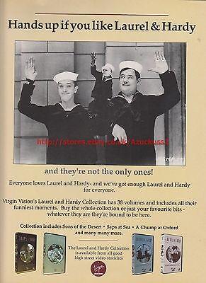 Laurel & Hardy Collection 1991 Magazine Advert #7691