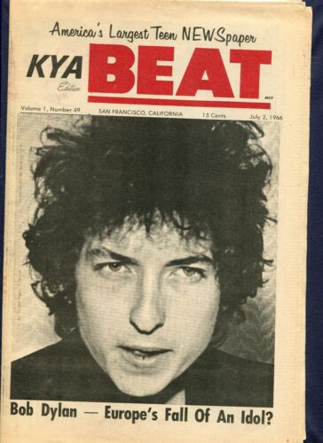 1966 KYA Beat Magazine Bob Dylan England & Europe Review, The Beatles Are Coming