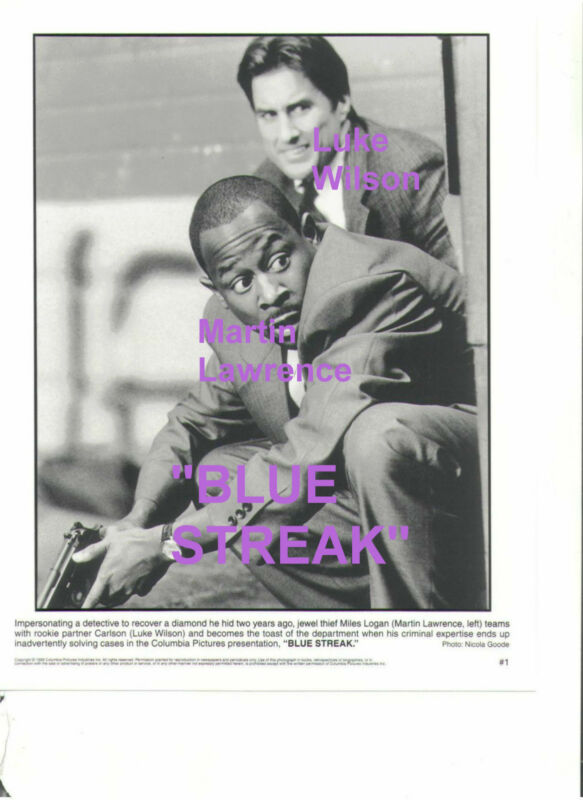 BLUE STREAK MARTIN LAWRENCE JEWEL THIEF LUKE WILSON ORIGINAL 8x10 PRESS PHOTO