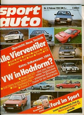 sport auto 02/84 84/02 2/84 @ BMW 323i E30 Maserati Biturbo @ Opel Kadett D GT/E