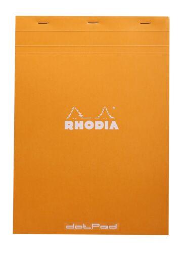 Rhodia Staplebound Notebook 8 x 11 Dot Grid paper Orange