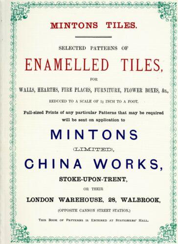 Antique Minton Pottery Enamelled Tiles / Catalog Reprint