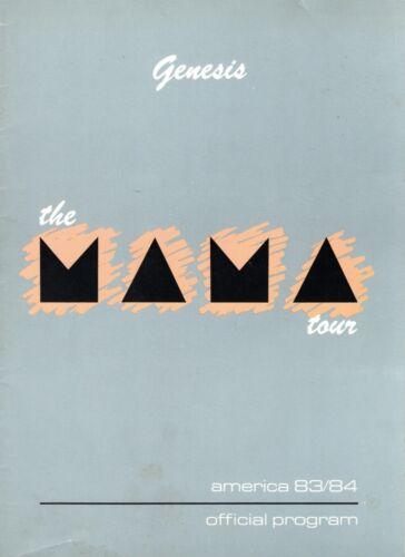 GENESIS-PHIL COLLINS1983/1984 MAMA U.S. TOUR-CONCERT PROGRAM BOOK-VG TO NMT