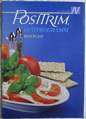 POSITRIM Diätprogramm Menüpläne AMWAY Nutrilite Literatur 1989 Heft