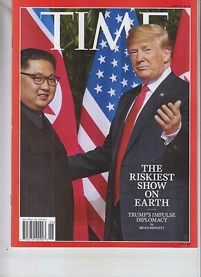 DONALD TRUMP KIM JONG UN TIME MAGAZINE JUNE 25 2018 RISKIEST SHOW ON EARTH