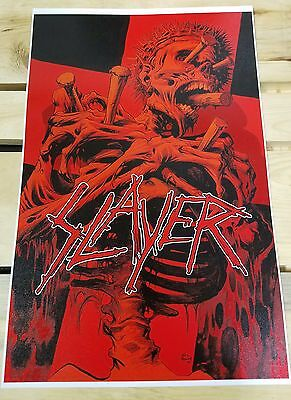 SLAYER  poster 2016 Repentless Anthrax Pantera Death Opeth Metallica tour poster