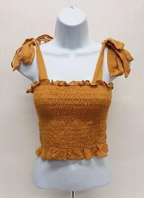 Women's Small Kendall & Kylie Sleeveless Crop Top with adjustable straps