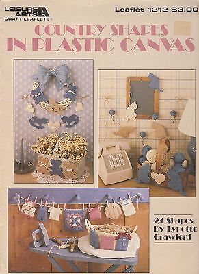 Plastic Canvas Pattern Book Country Shapes Leisure Arts 1212