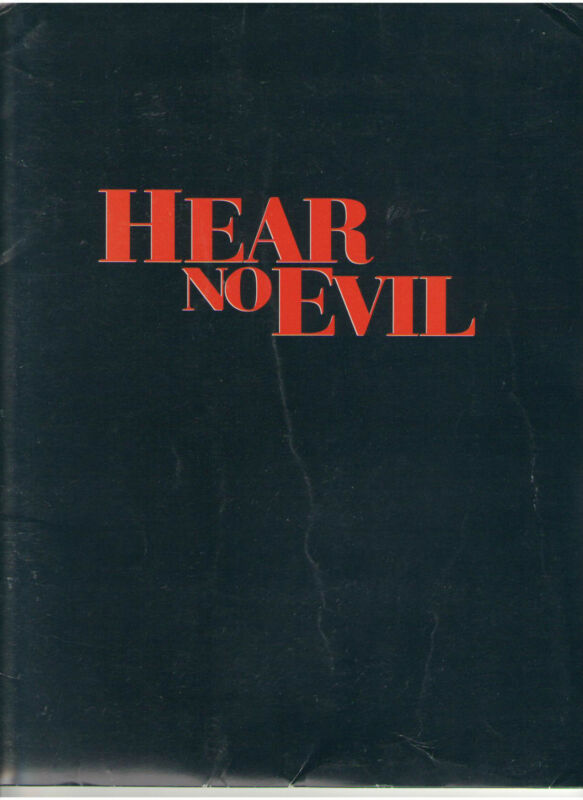 HEAR NO EVIL PRESS KIT MARLEE MATLIN DEAF ACTOR D.B. SWEENEY MARTIN SHEEN PHOTOS