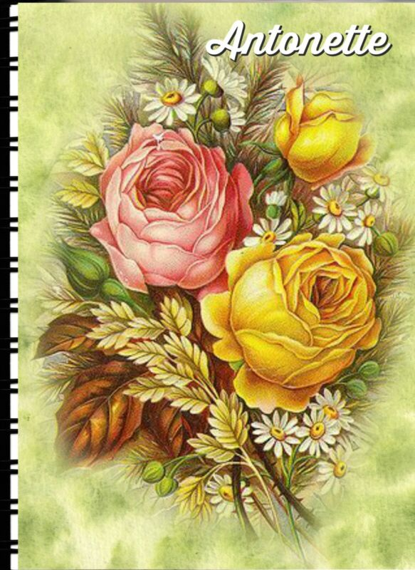 Address Book with Web page Rose Bouquet