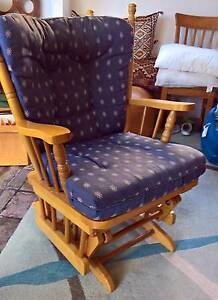 Wooden Rocking Chair Sliding Glider Baby Breast Feeding Relaxing Baulkham Hills The Hills District Preview