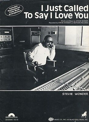 I Just Called To Say I Love You - Stevie Wonder - 1984 USA Sheet Music