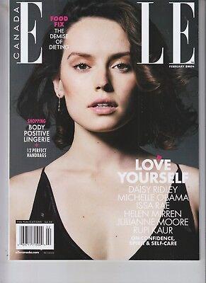Daisy Ridley February 2018 Canada Elle Magazine The Last Jedi
