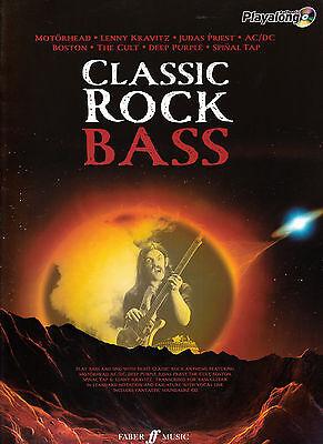 - CLASSIC ROCK BASS GUITAR & VOICE SHEET MUSIC BOOK & BACKING CD