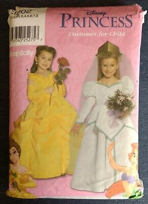 Simplicity 9902 ~ Disney PRINCESS COSTUMES ~ Belle & Ariel ~ Childs Size A (3-8) (Plus Size Princess Belle Costume)