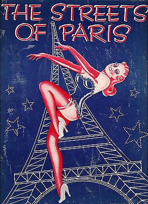 "Carmen Miranda ""STREETS OF PARIS"" Abbott & Costello 1939 Tryout Souvenir Program"