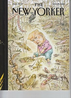 DONALD TRUMP THE NEW YORKER MAGAZINE MAY 21 2018 NO LABEL THE SWAMP