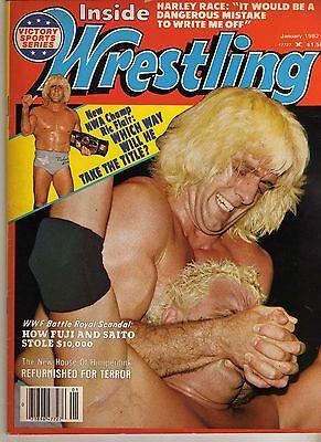 INSIDE WRESTLING JANUARY 1982 RIC FLAIR DUSTY RHODES HARLEY RACE FUJI (GOOD) WWF