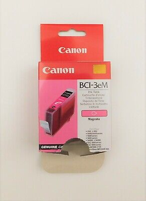 GENUINE CANON BCI 3e MAGENTA ink cartridge BJC3000 BJC6100 BJC6200S i850 S750