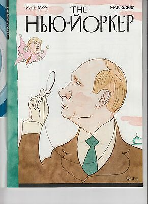 VLADIMIR PUTIN DONALD TRUMP THE NEW YORKER MAGAZINE MARCH 6 2017 NO LABEL