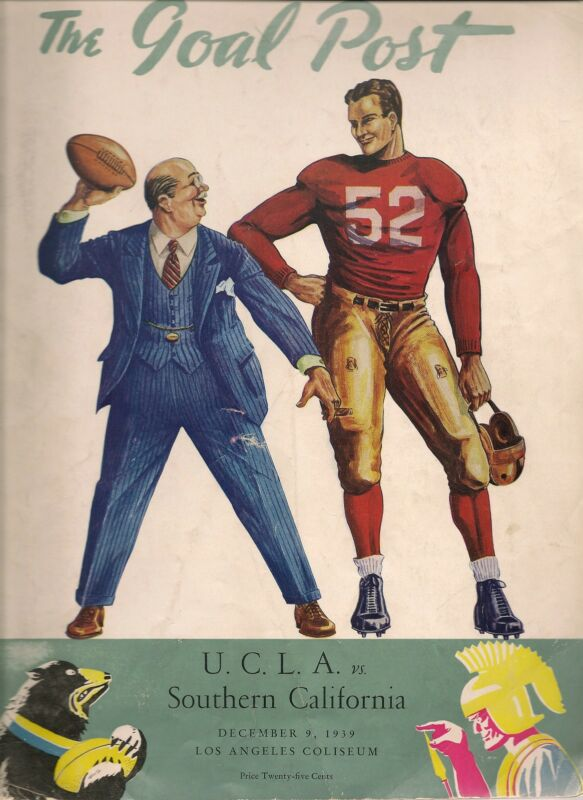 1939 UCLA-Southern California Program Bruins-Trojans Deadlock Jackie Robinson!!