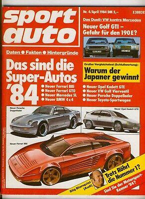 sport auto 04/84 84/04 4/84 @ Renault 5 Turbo 2 - Alpine A 110 @  VW Golf GTI