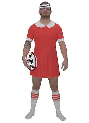 Mens Red Wales Rugby World Cup Dress Costume Funny 6 Nations Fancy Dress RFC - World Cup Costume