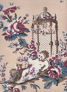 fine Historic Waterhouse Wallhangings Reproduction 18thC French Wallpaper #1
