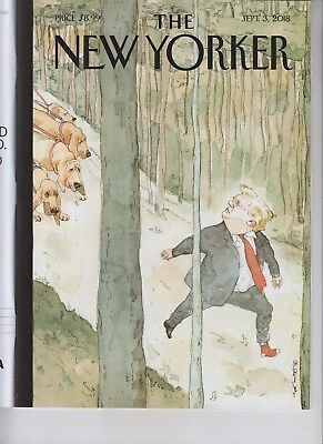 DONALD TRUMP THE NEW YORKER MAGAZINE SEPTEMBER 3 2018 NO LABEL CLOSING IN