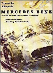 Vintage mercedes poster ebay for Vintage mercedes benz posters