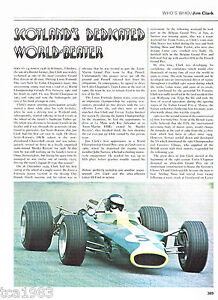 Vintage-JIM-CLARK-Racing-Article-Photos-Pictures-Formula-1-F1-Grand-Prix