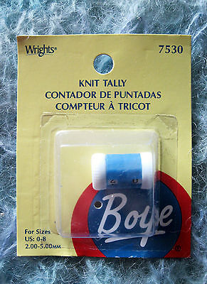 BOYE SMALL KNIT TALLY - ROW COUNTER - FOR NEEDLE SIZES 0 THOUGH 8