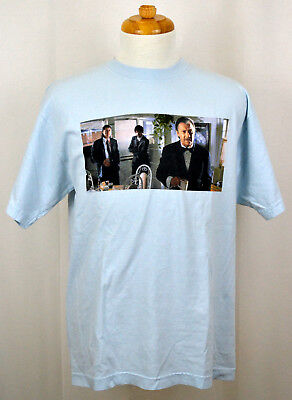 Pulp Fiction T-shirt The Wolf Vincent Jules Graphic Tee Light Sky Blue NWT ()