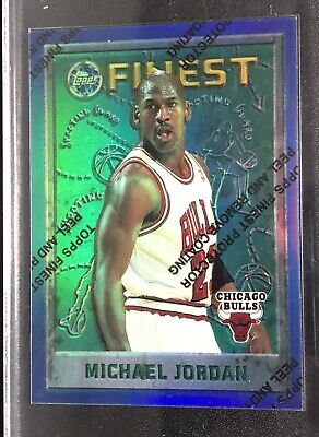 1995-96 TOPPS FINEST Refractor #229 MICHAEL JORDAN  Rare Parallel With  Coating