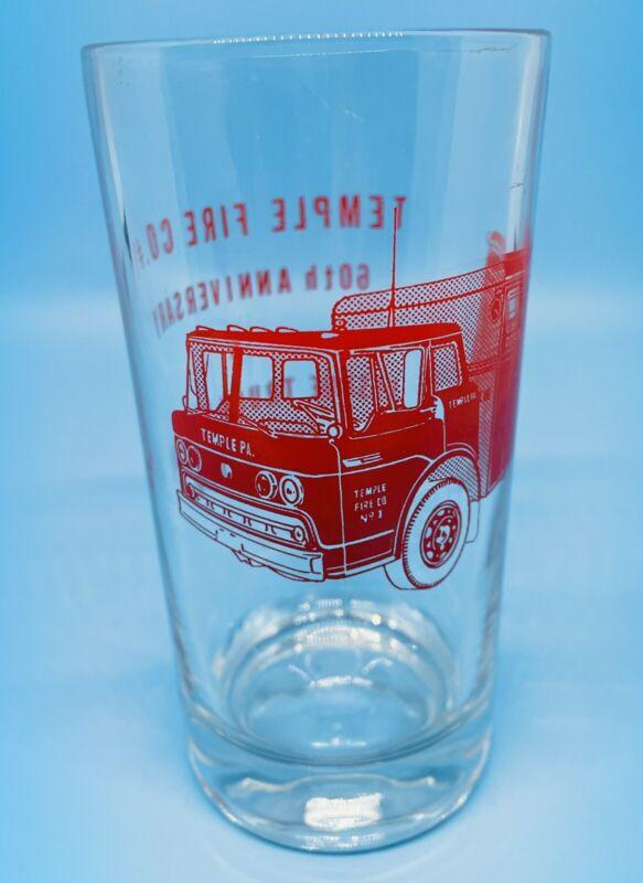 Temple PA Fire Co #1 60th Anniversary Glass 1970