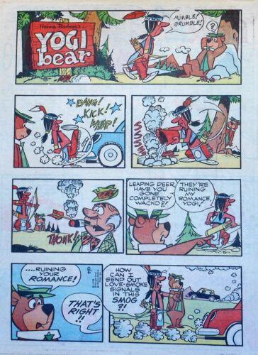 Yogi Bear - Hanna-Barbera TV - lot of 26 full tab Sunday comic pages - late 1978