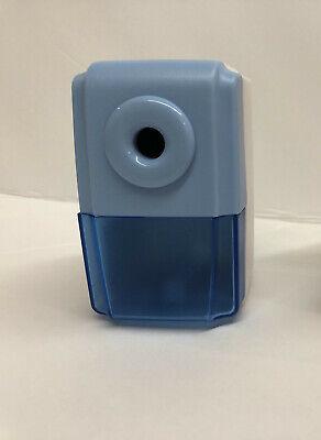 Cute Pencil Sharpener Kids - Portable - Manual Crank Bluewhite