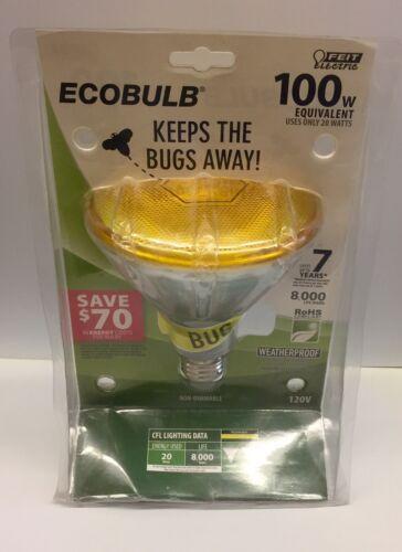 Compact Fluorescent 23w Yellow PAR38 Bug Light Bulb