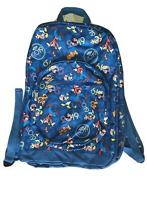 Disney World 2019 Mickey Mouse and Friends Backpack Bag Blue NWT