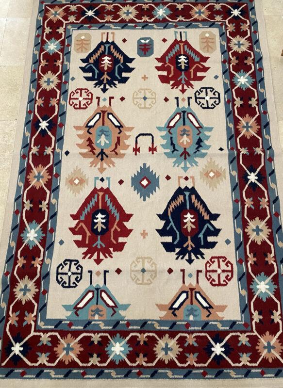 "Vintage Navajo  Rug Wool 71""x110"" Native American Original Hand Woven 180x280cm."