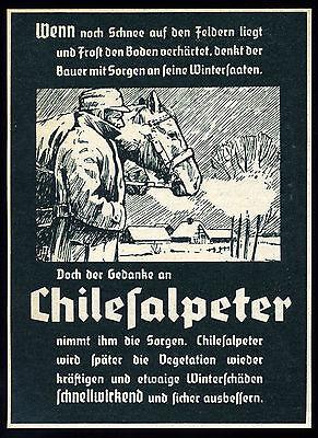 Alte Werbung Reklame 1937 (1) Chilesalpeter Dünger Düngemittel Landwirtschaft