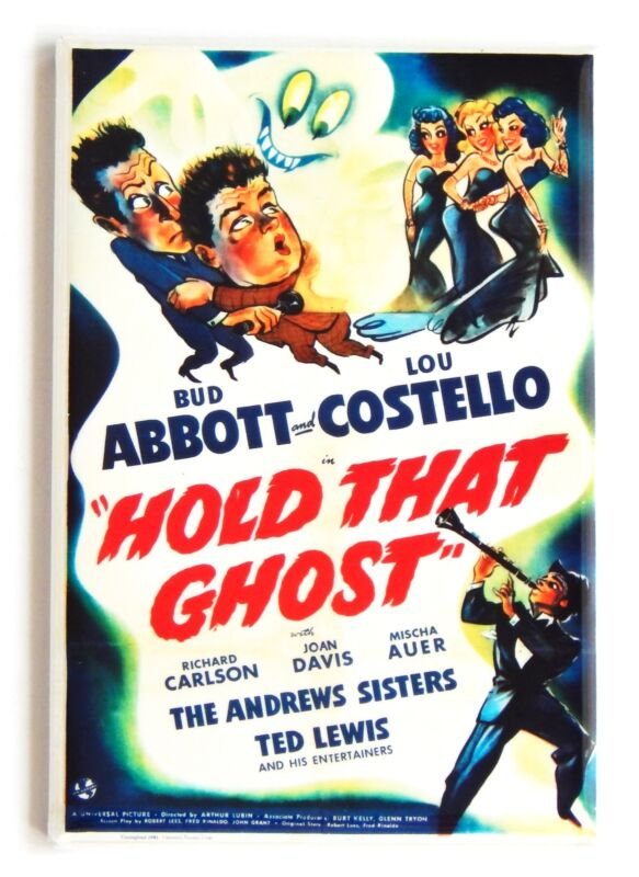 Hold That Ghost FRIDGE MAGNET movie poster abbott & costello