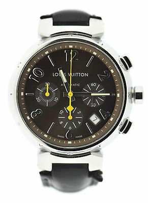 Louis Vuitton Tambour Chronograph Stainless Steel Watch Q1121